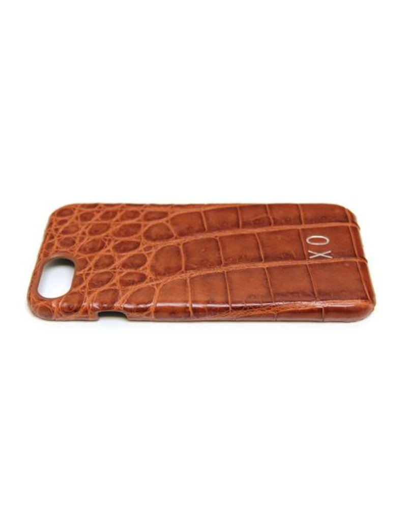 XO XO luxury croco Cognac iPhone 8