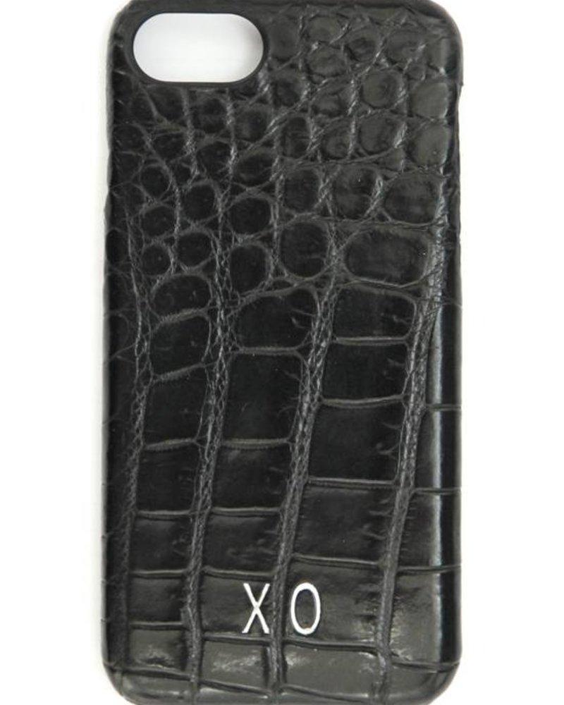 XO XO luxury croco Zwart iPhone 8