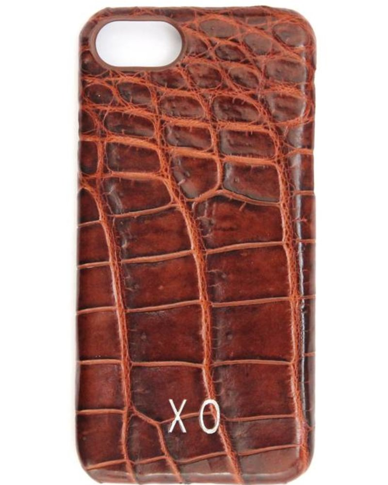 XO XO luxury croco Bruin iPhone 8