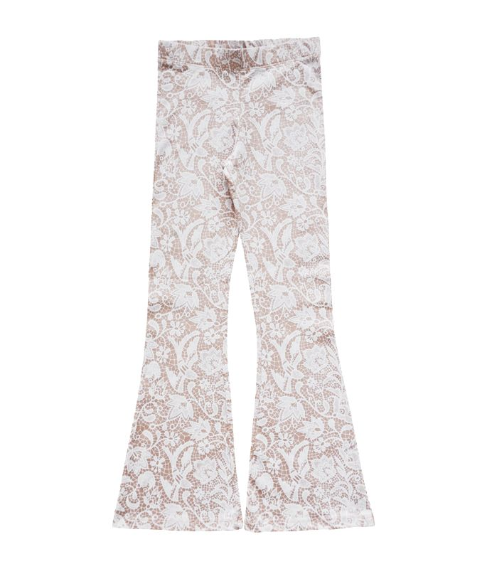 Petitbo Bell bottoms soft pink lace