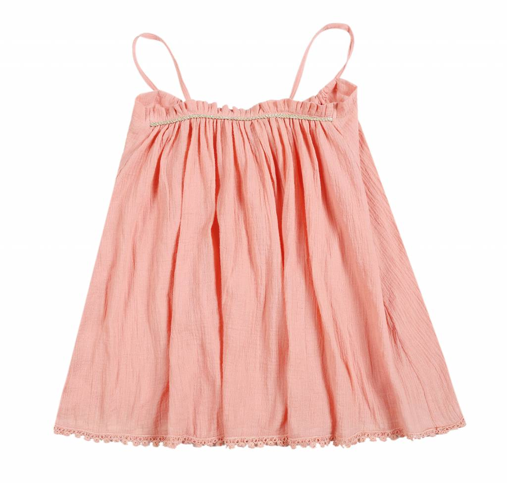 Louise Misha Fine dress suspender straps in Rust
