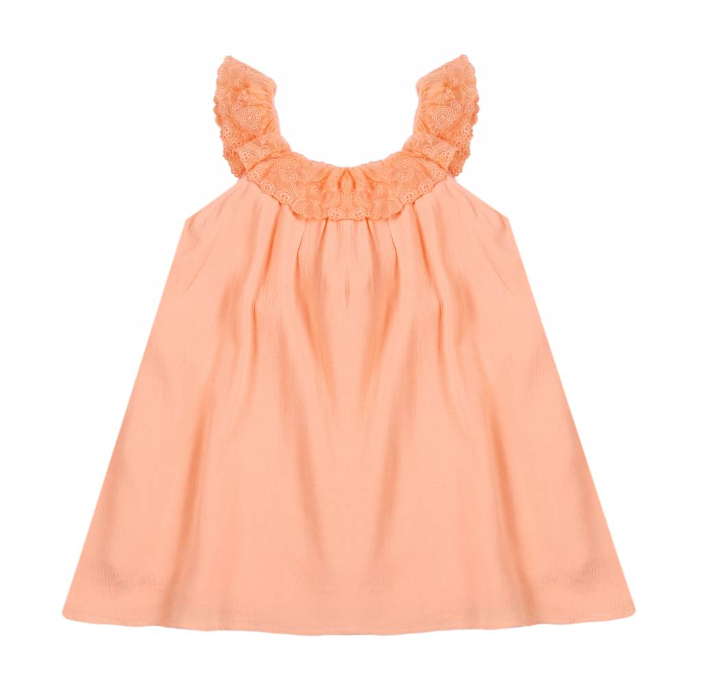 Louise Misha peach dress