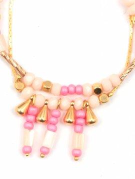 Armband Inca roze kind