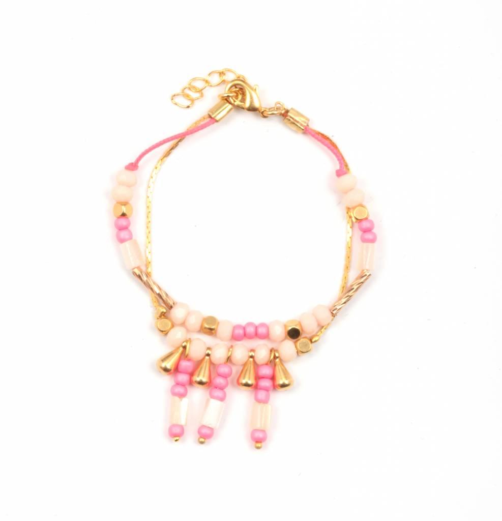 Louise Misha Bracelet Inca pink kid