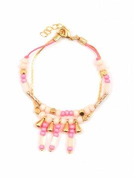 Louise Misha Armband Inca roze women