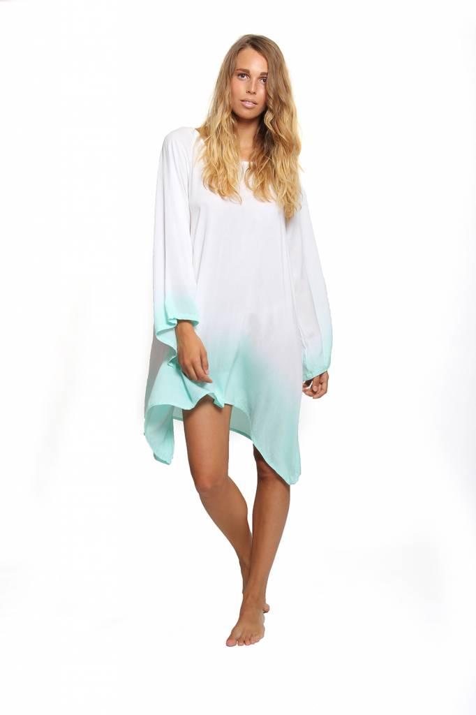 Sundress Indiana Ombre short White/Turquoise