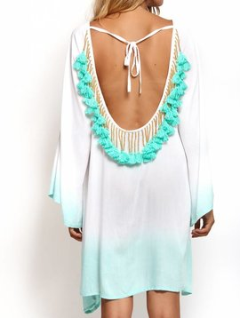 Sundress Indiana Ombre short White/Turquoise