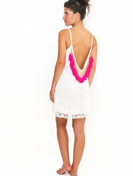 Sundress Lana short White/Pink