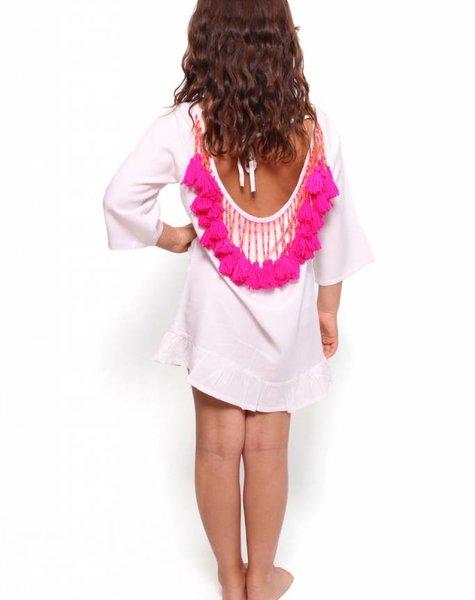 Sundress Alaia Baby White/Pink
