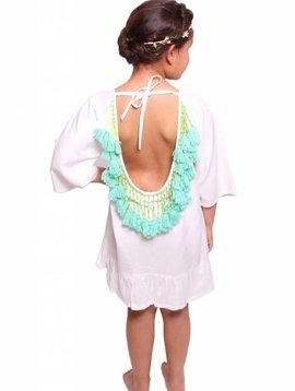 Sundress Alaia baby White / Turquoise