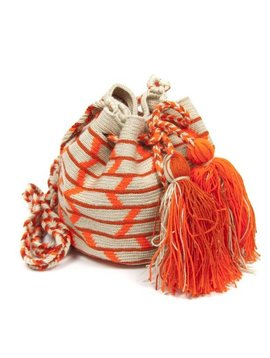 Guanabana Bag Wayuu oranje medium formaat