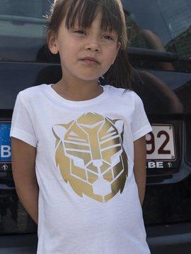 Beest T-shirt white gold Simba