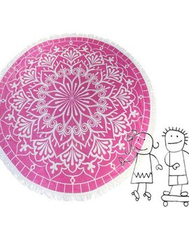 Habibah Round beach towel kids blushing pink