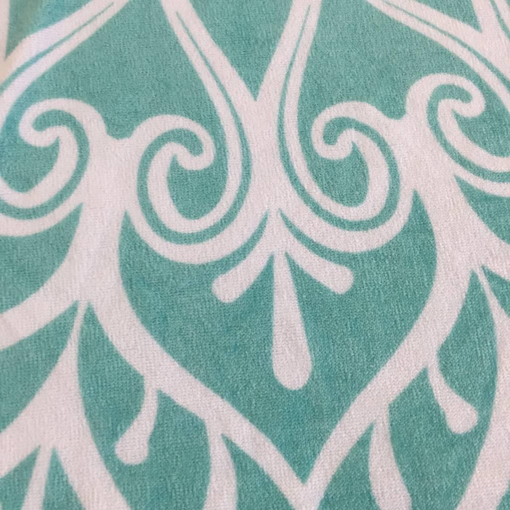 Round beach towel kids mermaid green