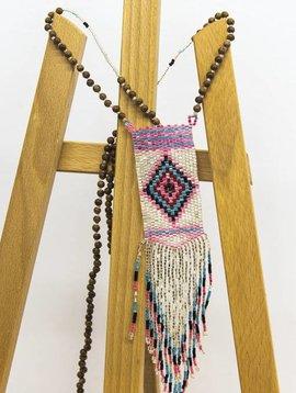 Nilu Halsketting The pendant necklace beige/roze