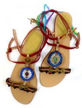 Melissimo sandals / flip flops burgundy / red size 40