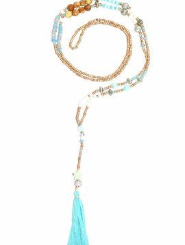 Nilu Halsketting The tiny long necklace turquoise