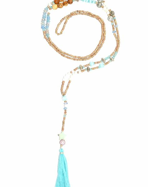 Nilu Necklace The tiny long necklace turquoise