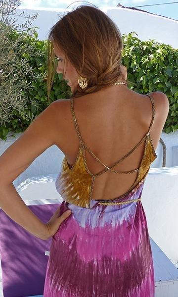 Long dress Kalisi multicolor batik