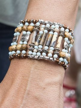 Armband The gipsy crystal turquoise