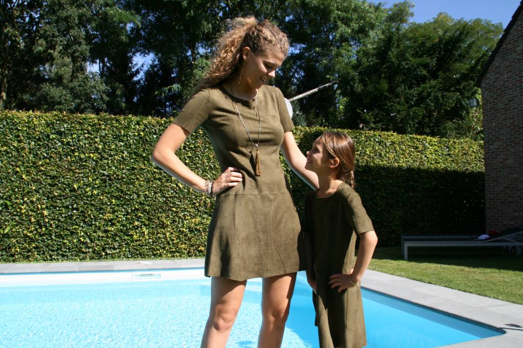Jacky Luxury Dress suede army kids