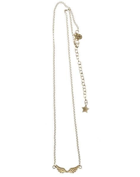 Betty Bogaers Short wings necklace plated gold