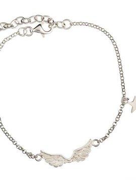 Betty Bogaers Short wings armbandje zilver