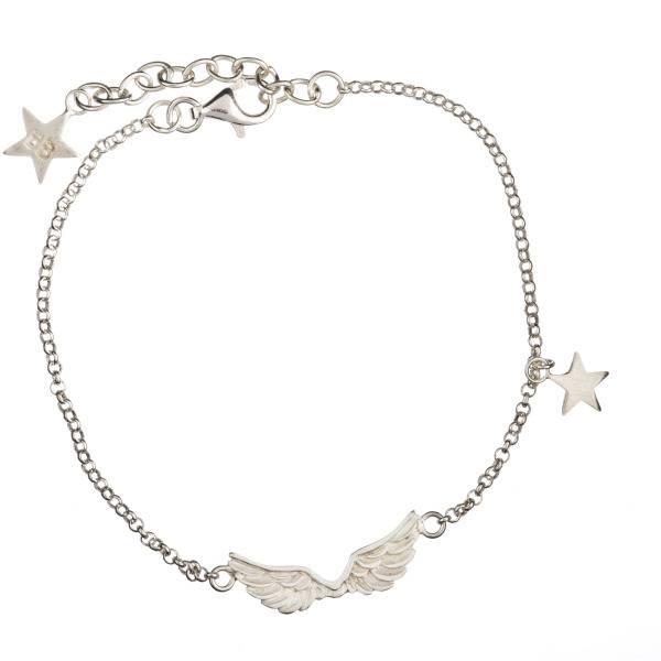 Betty Bogaers Short wings silver bracelet