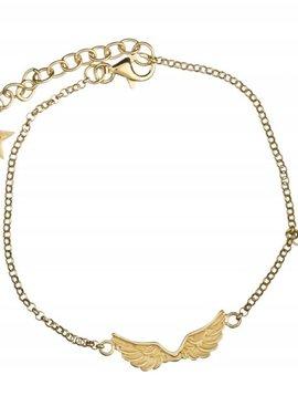 Short wings bracelet doré