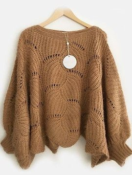 Amy Lou Pull/ poncho camel: laatste 2