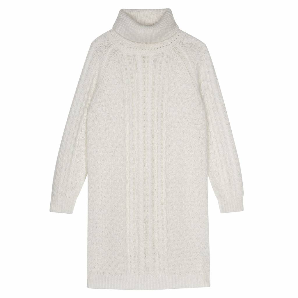 My Sunday Morning Pull / cream turtleneck dress