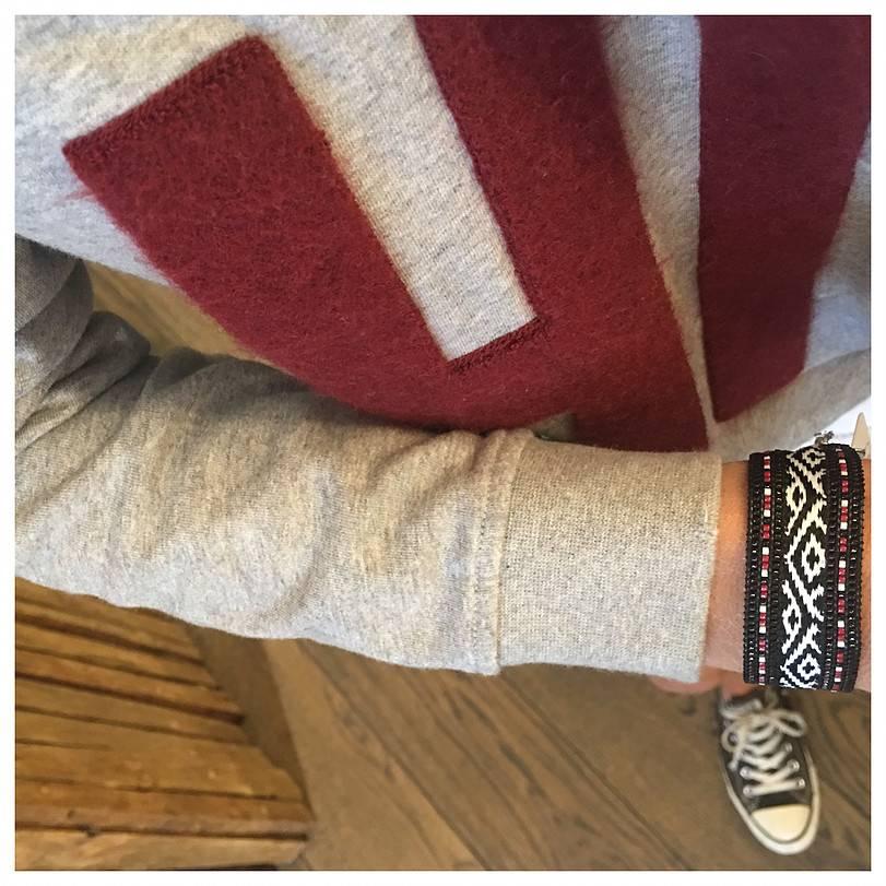 Nilu Nilu bracelet black and red