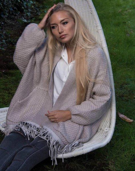 Charlise Cardigan grey / praline Charlise