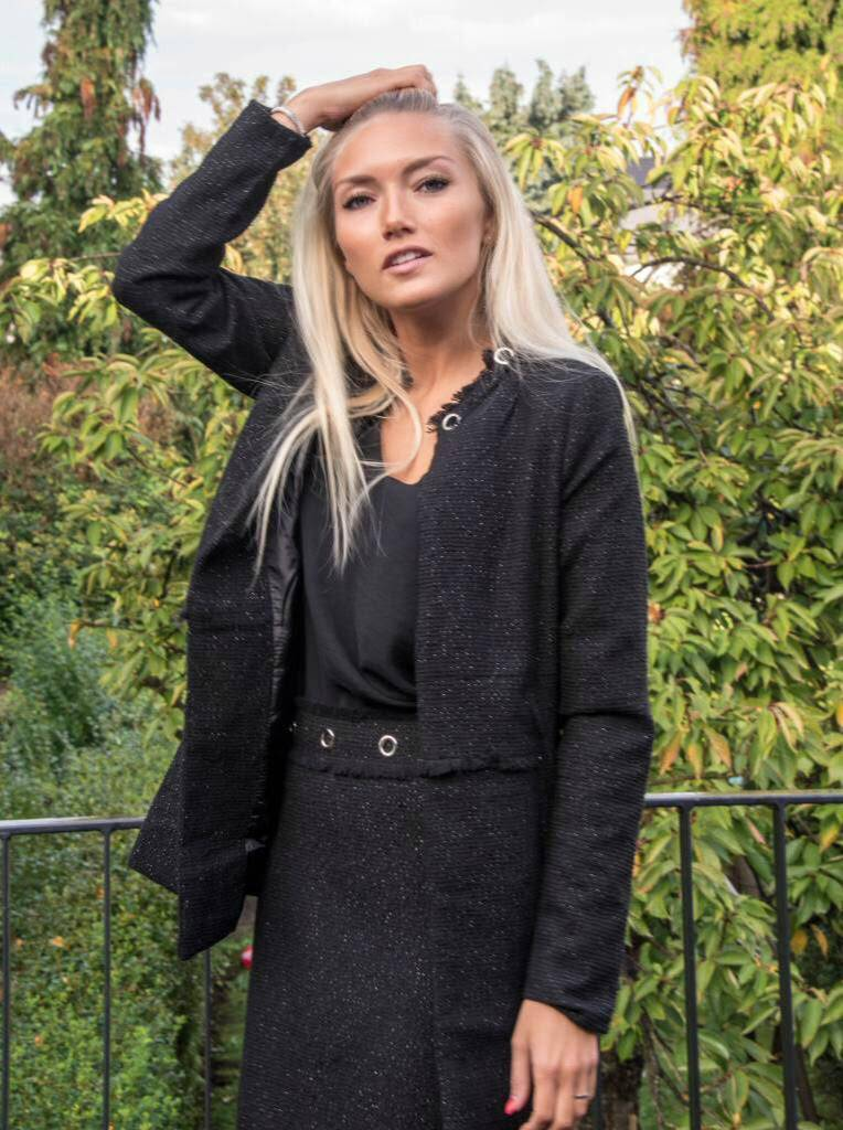 Carminn Mini Skirt black lurex