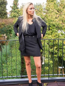 Carminn Mini-jupe lurex noir Carminn