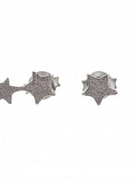 Betty Bogaers oorbel 2 connected star zilver