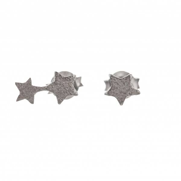 earring 2 connected rigidly silver
