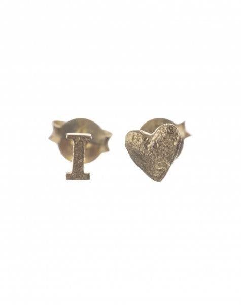 Betty Bogaers I love stud earring gold plated