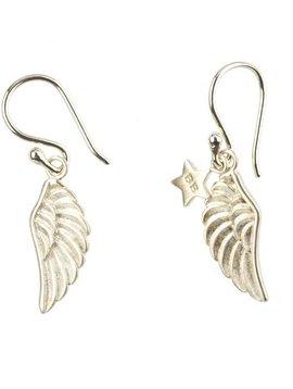 Betty Bogaers oorbel wings (vleugels) zilver