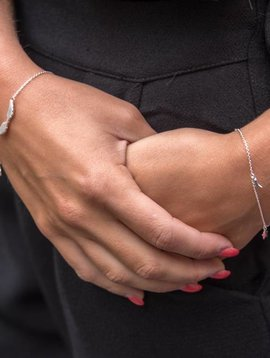 Betty Bogaers argent Twinkle bracelet chaîne KID