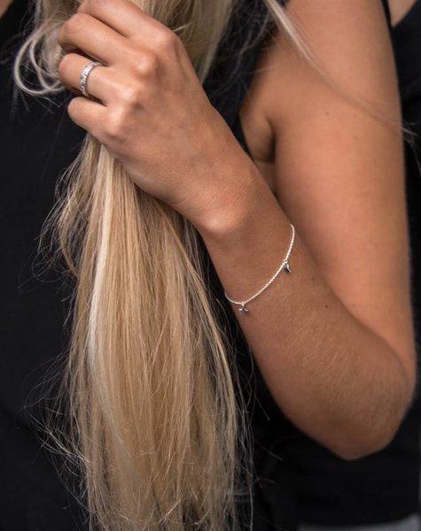 Twinkle silver chain bracelet MUM