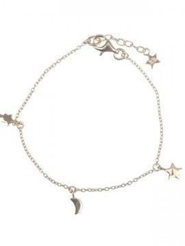 Betty Bogaers Bracelet chaîne Twinkle KID plaqué or