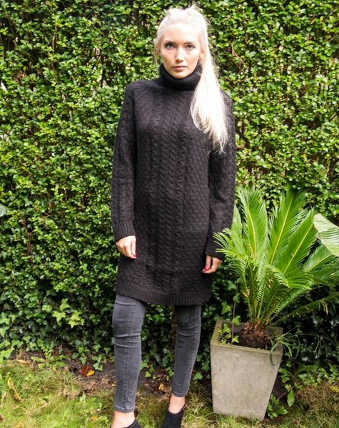 My Sunday Morning Pull/dress Rose black long