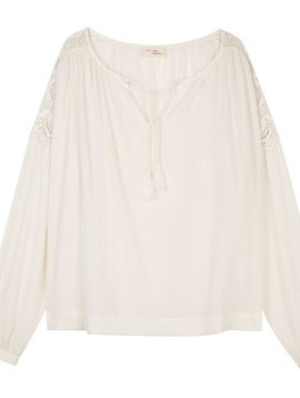 My Sunday Morning Blouse Tiffany off white with see through lace