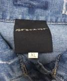 Jeansvest Ananda borduurwerk  multicolor black-gold  XL