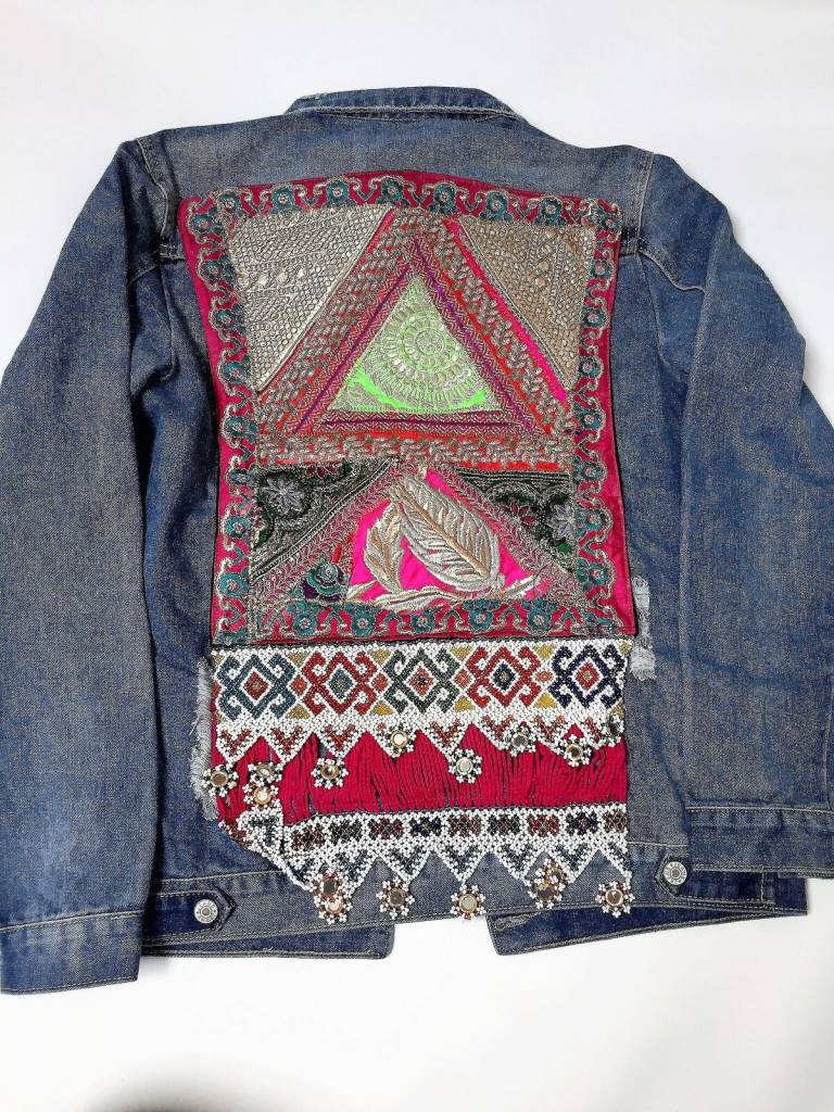 Monikmo Jean jacket vintage Ananda multicolor Medium