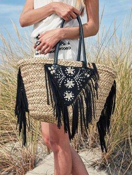 Amenapih Suzy panier/sac de plage en paille