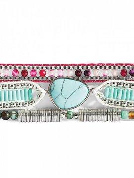 Hipanema Armband Annie-Mini turquoise/violet