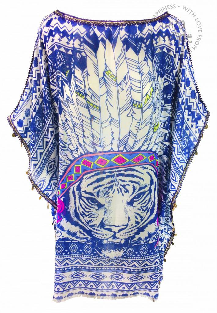 Melissimo Tunic feather blue lionhead