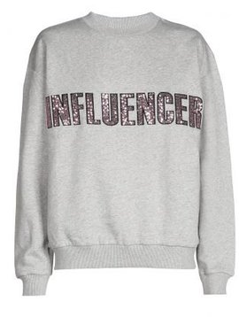 Sweater – INFLUENCER Grey paillet